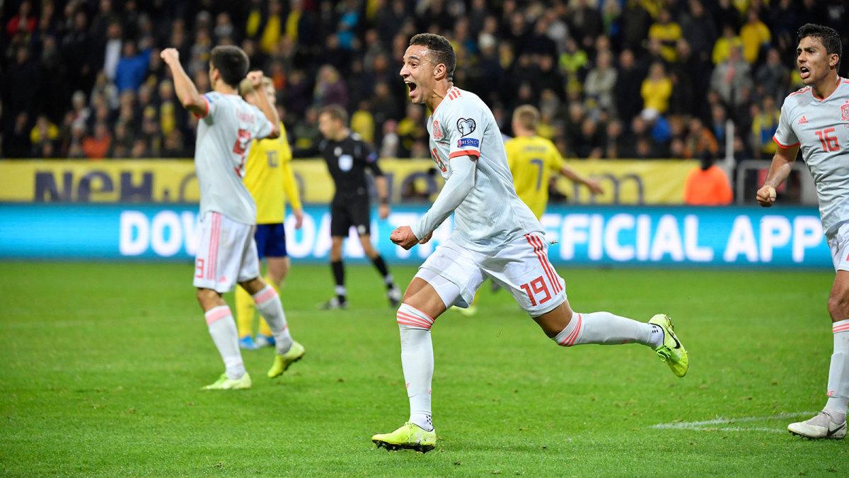 Rodrigo's goal clinches Spain's Euro 2020 place