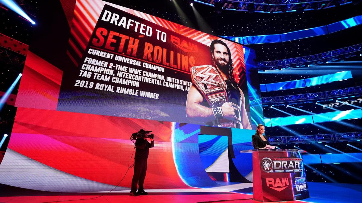 Stephanie McMahon announces a draft pick on WWE Raw