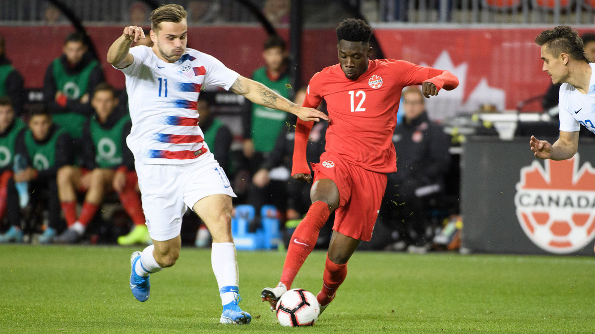 Alphonso Davies leads Canada vs the USA