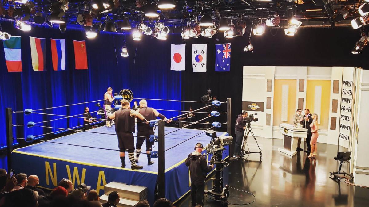 The studio where NWA Powerrr is filmed