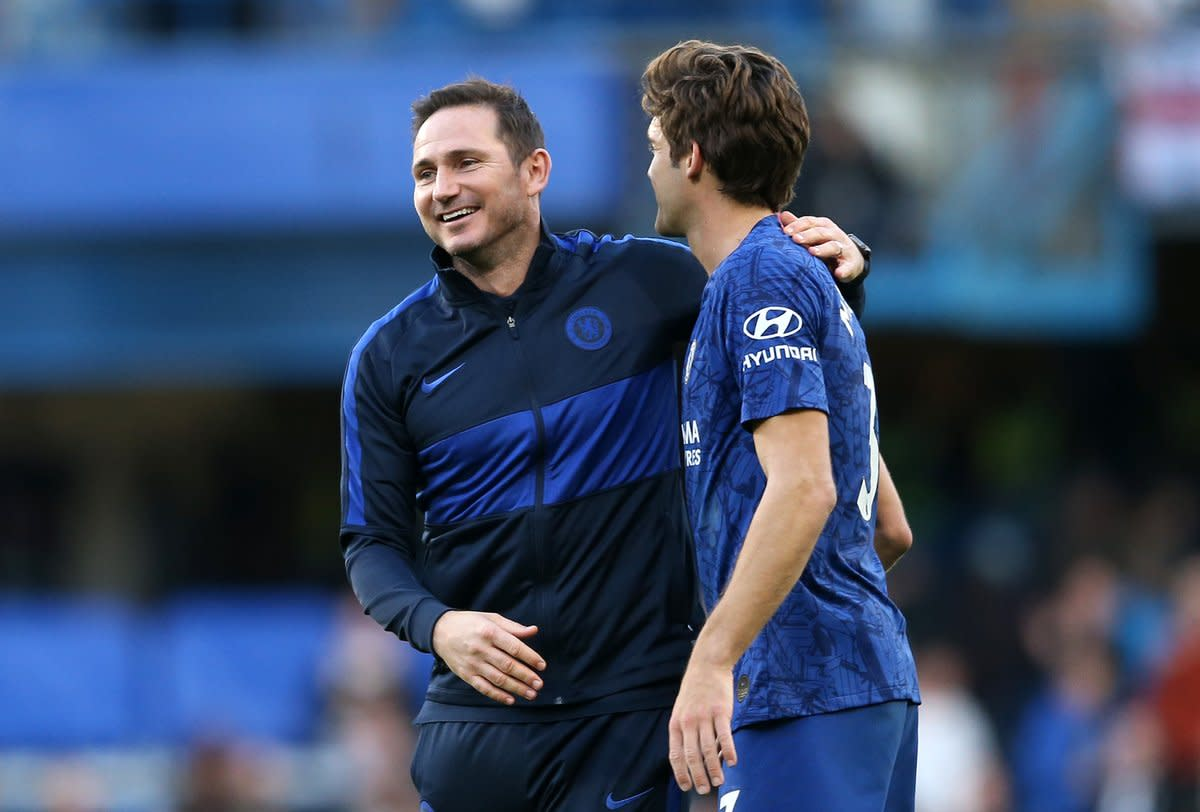 Marcos Alonso struggled for game time under Frank Lampard and was set for a move away