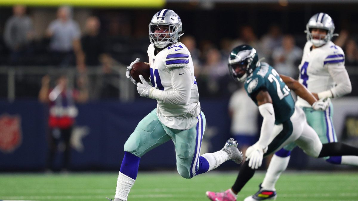 Elliott's 147 total yards helped lead the Cowboys to a lopsided victory over the Eagles.