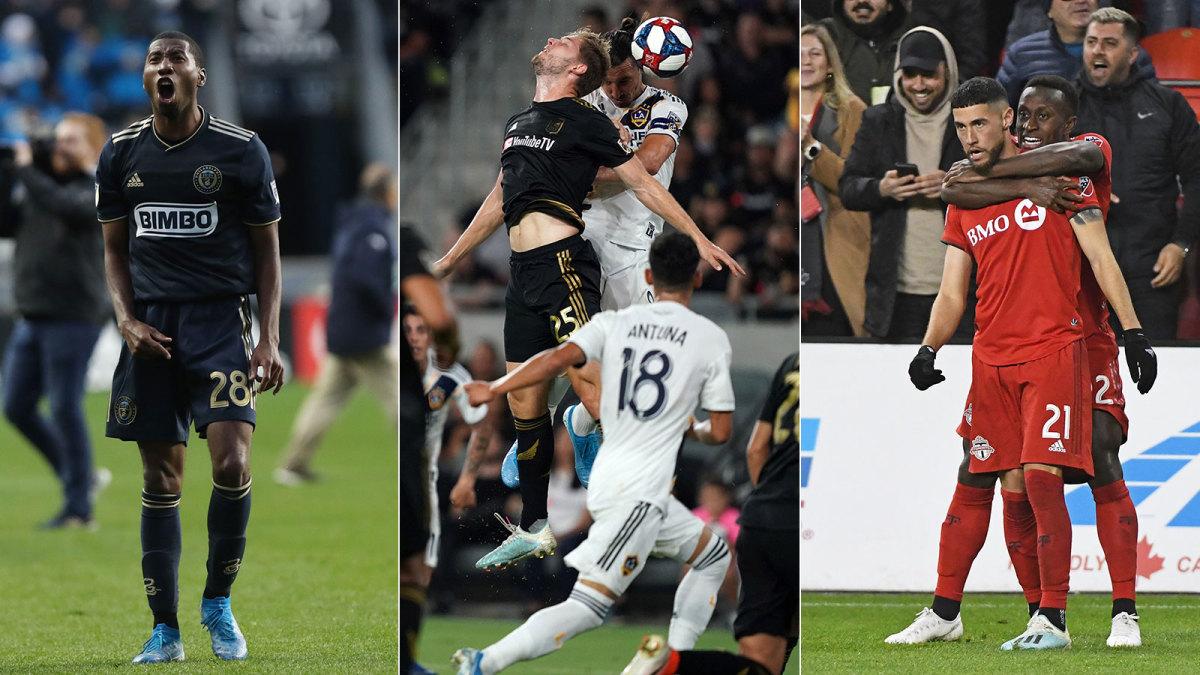 The Philadelphia Union, LA Galaxy and Toronto FC all won MLS playoff games