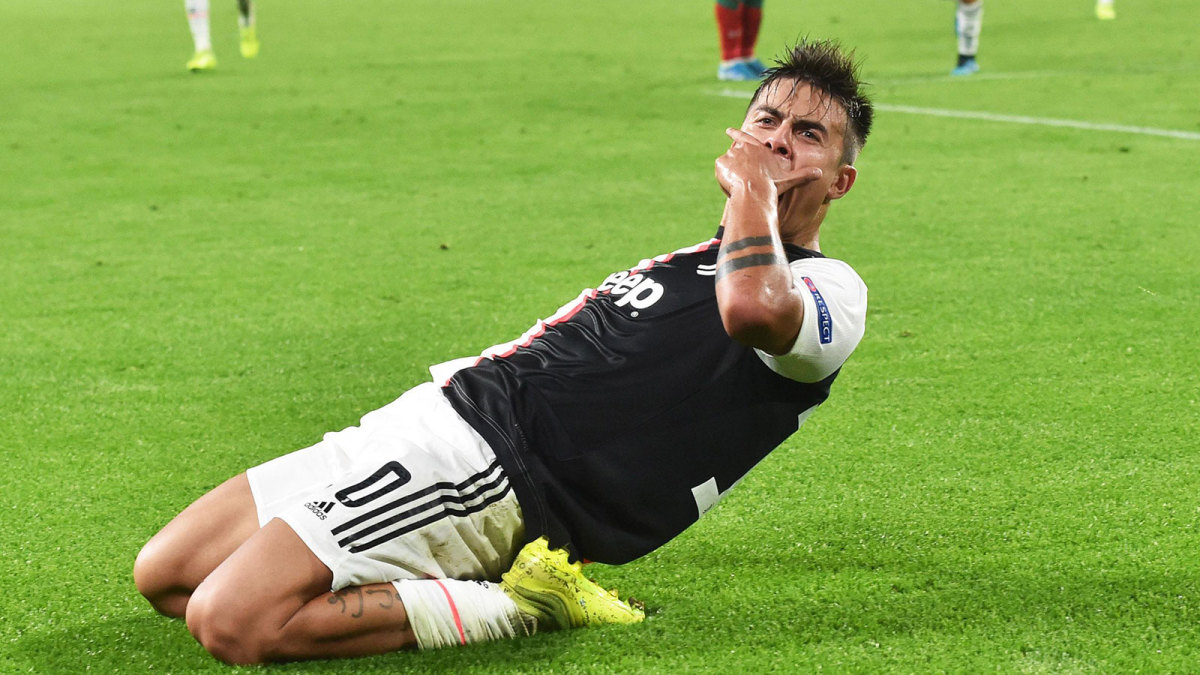 Paulo Dybala scores twice in Champions League