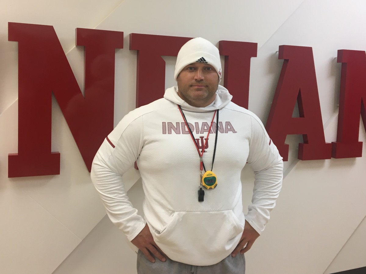 The differences that David Ballou has made in the weight room for Indiana's players have been dramatic since returning home to Bloomington in January of 2018. (Photo by Tom Brew/Sports Illustrated Indiana