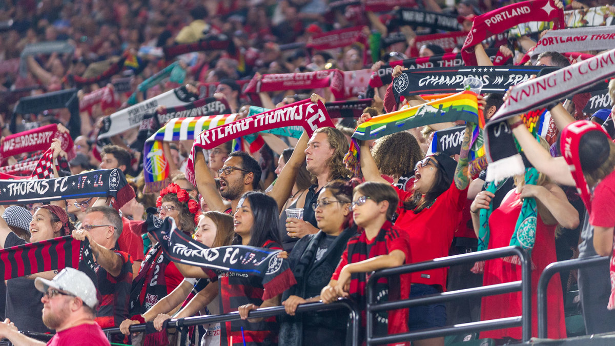 The Portland Thorns lead NWSL in attendance
