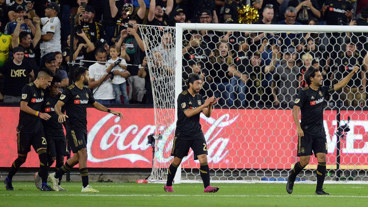 Carlos Vela scores for LAFC vs LA Galaxy