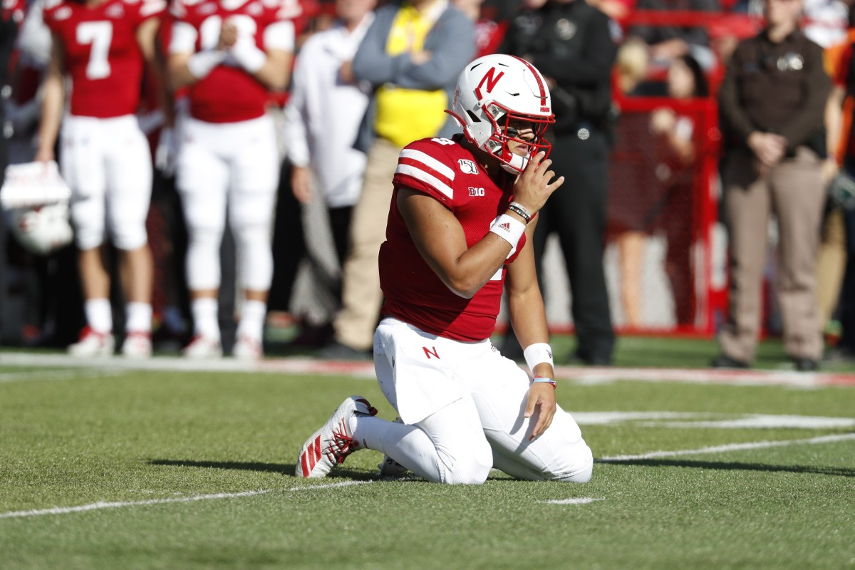 Adrian Martinez has been the lone bright spot for Scott Frost so far during his two years at Nebraska. (USA TODAY)