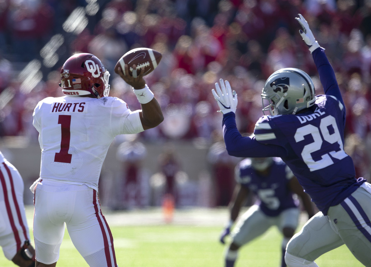 QB, Jalen Hurts and Oklahoma lost to K-State this weekend