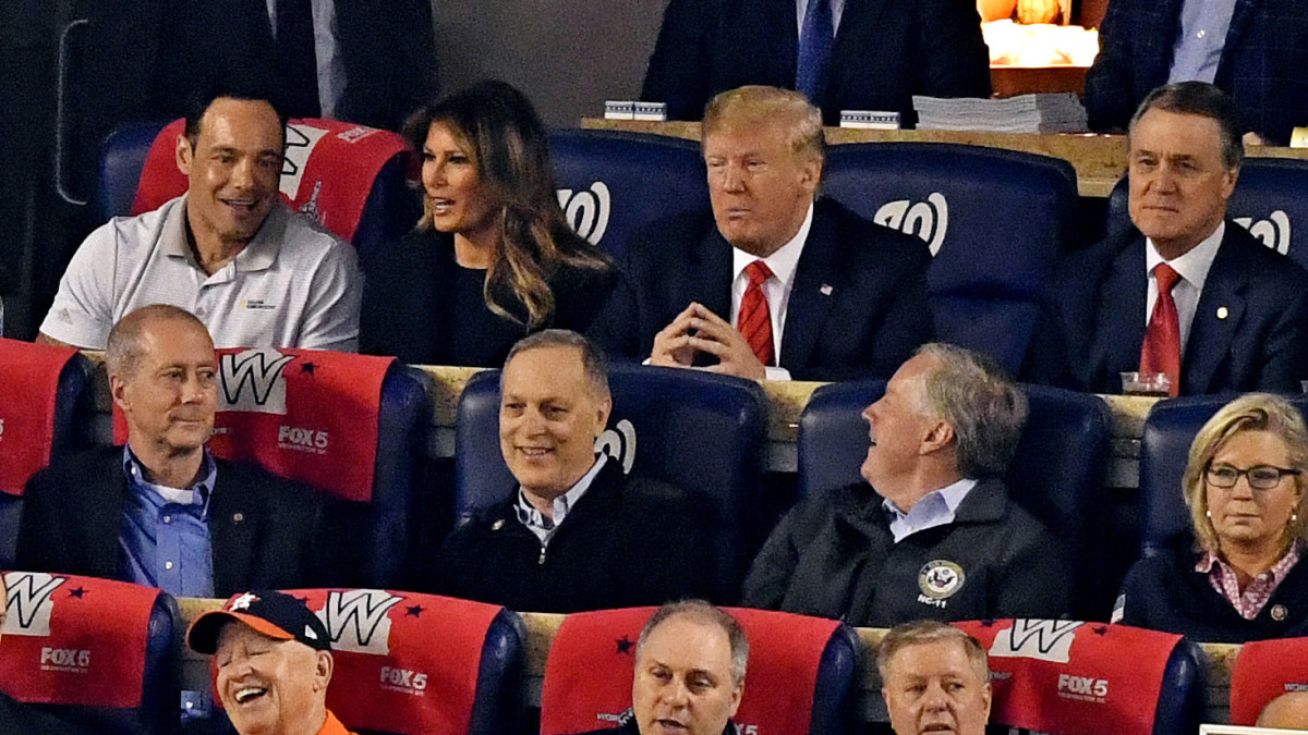 Donald Trump booed at Game 5 of World Series