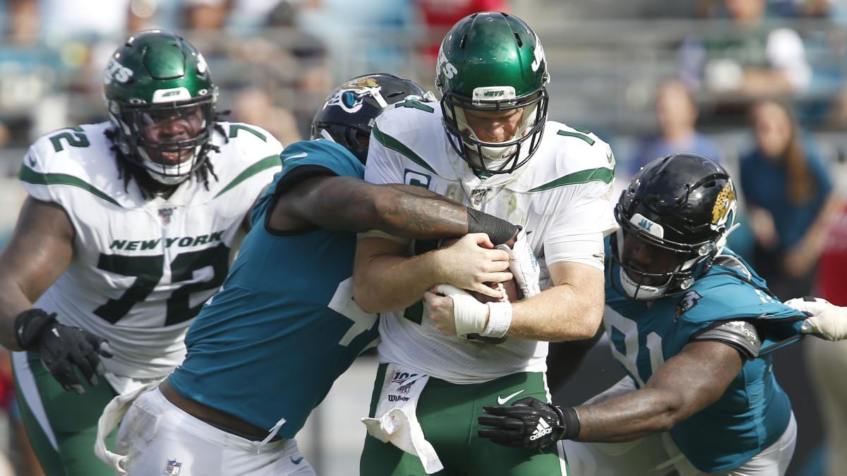 Sam Darnold Thumb Injury Jets Quarterback Hurt In Loss To