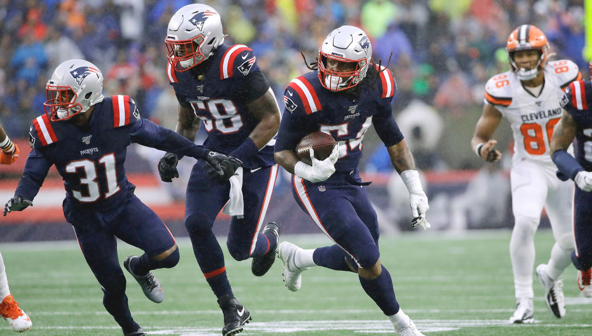 The fumble that Dont'a Hightower returned for a TD was the first of three turnovers the Pats forced on consecutive first-quarter plays.