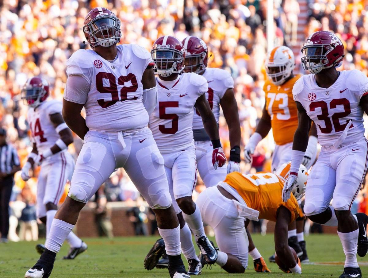 Alabama nose tackle Quinnen Williams, 2018