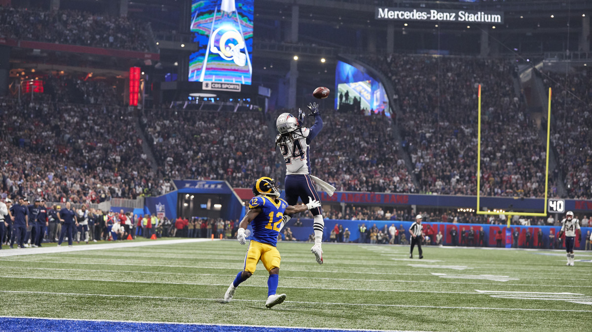 Stephon Gilmore Super Bowl interception against the Rams