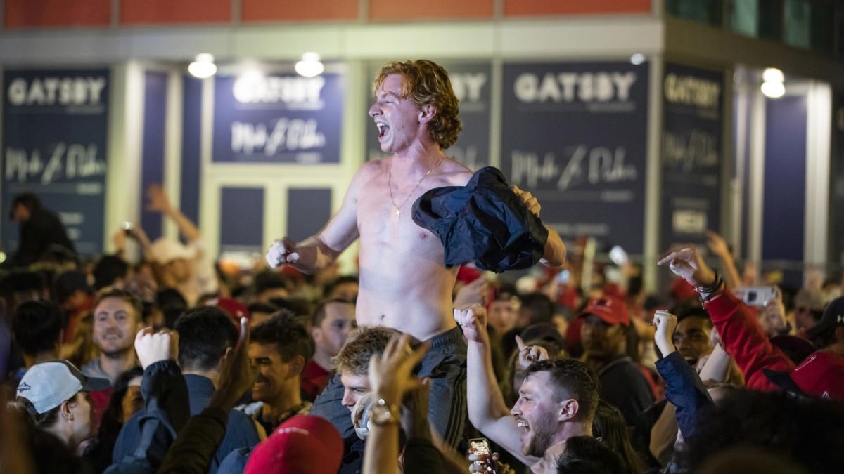 Washington Nationals fan celebrates World Series win