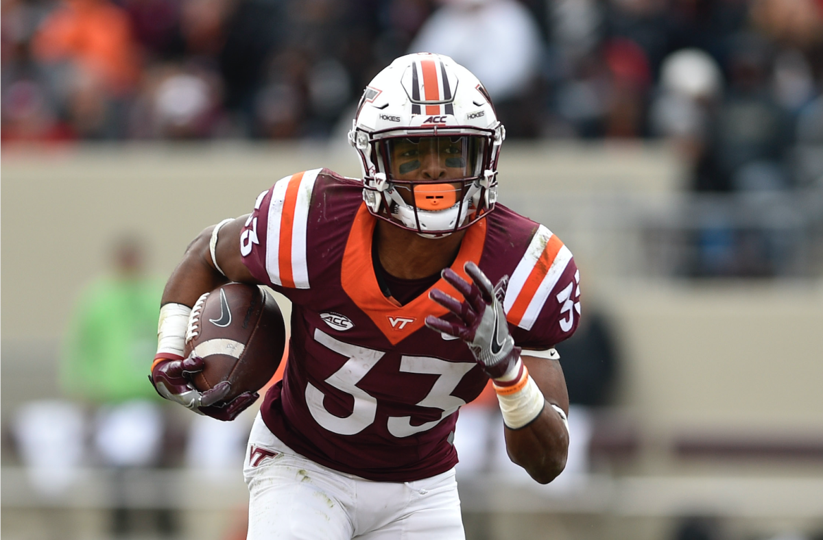 Virginia Tech running back Deshawn McClease is part of a dangerous one-two punch at RB.