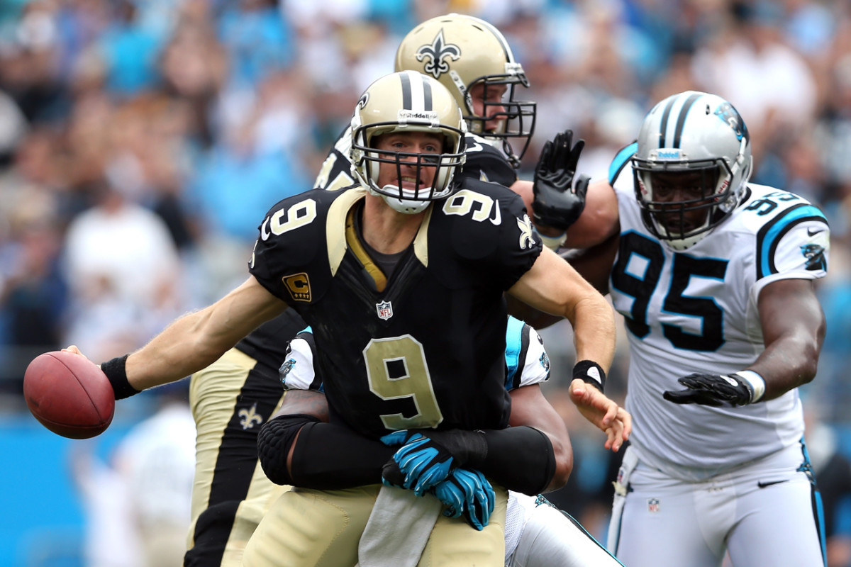 Brees led the league in TD passes and passing yards in '12 but couldn't save the Saints.