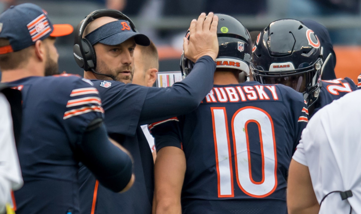 The Bears' playoff success could hinge on Nagy's work with his inconsistent young QB.