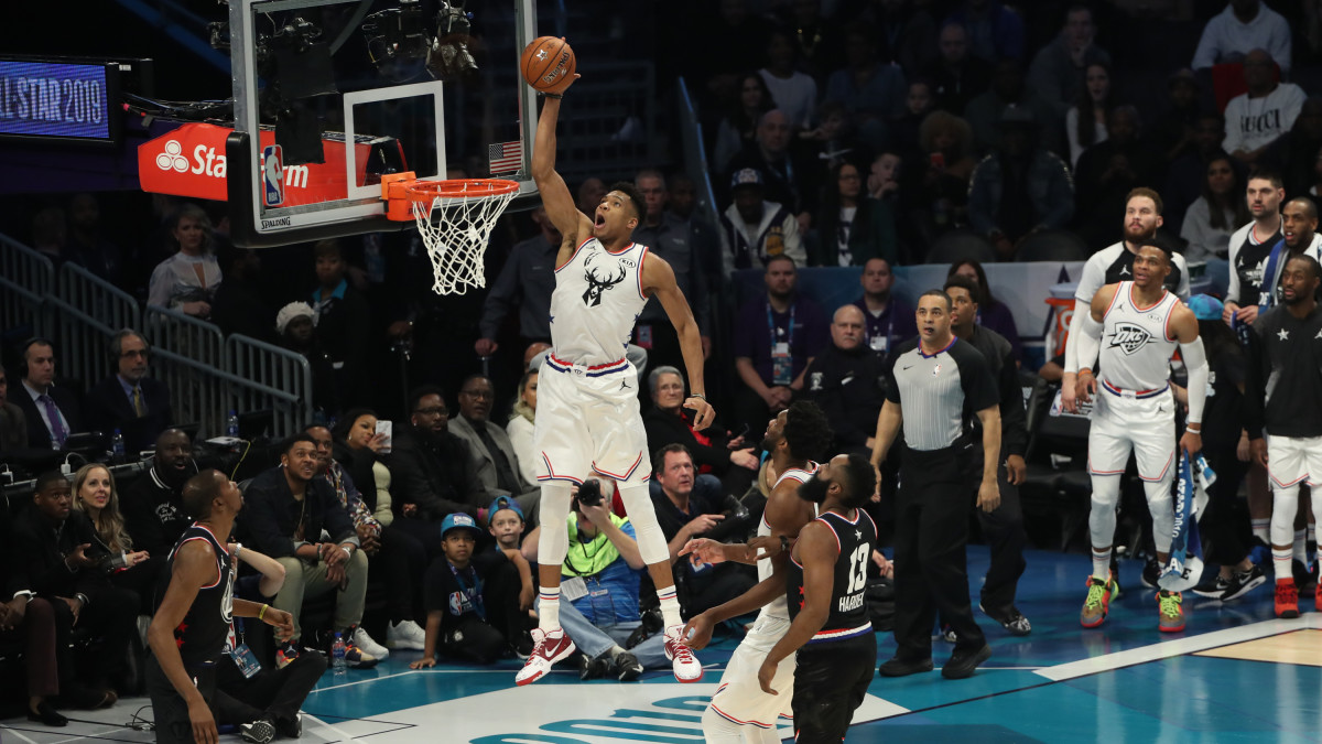 All Star Game Highlights Giannis Slams Lob From Steph Curry Sports Illustrated