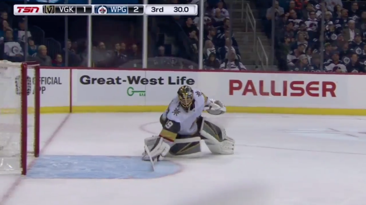 Marc-Andre Fleury Got Caught Trying a Very Sneaky Trick to Protect His Empty Net
