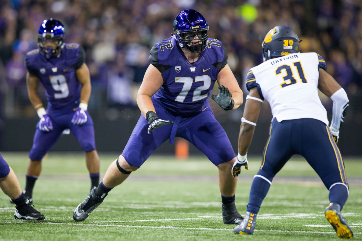 Washington tackle Trey Adams, a top-rated prospect for 2020.