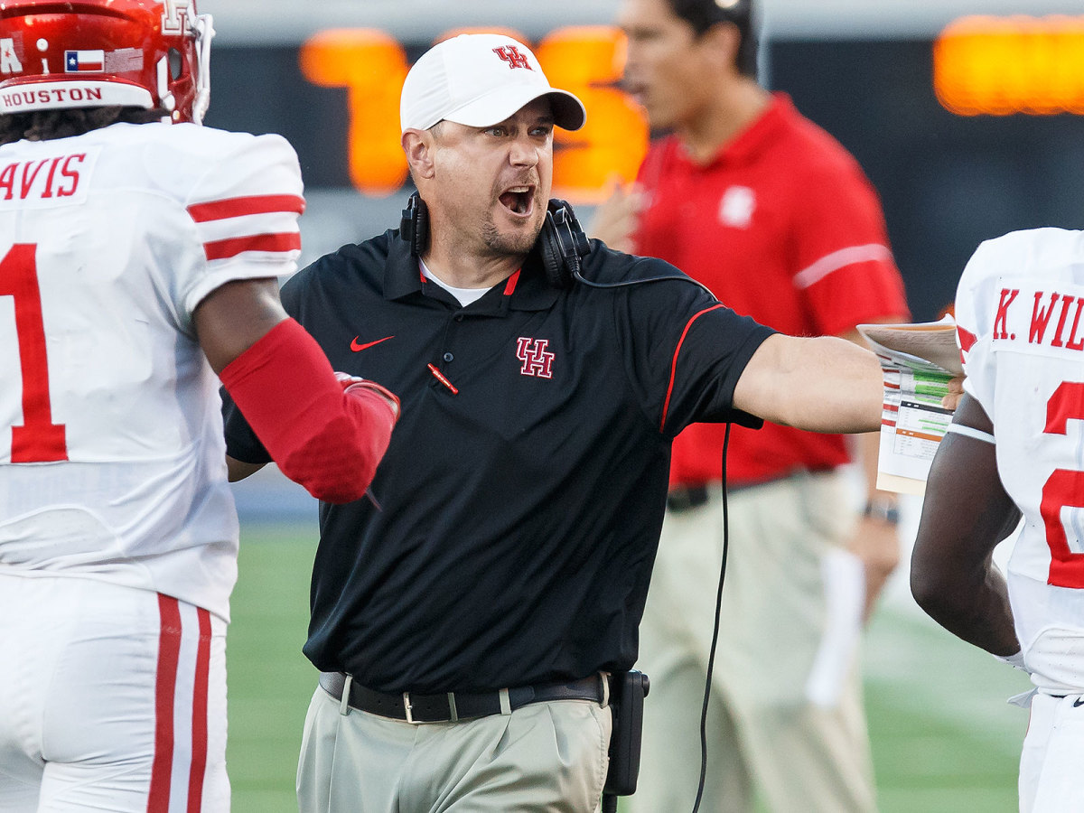 Herman went 22–4 in two seasons at Houston, including a 13–1 mark in 2015.