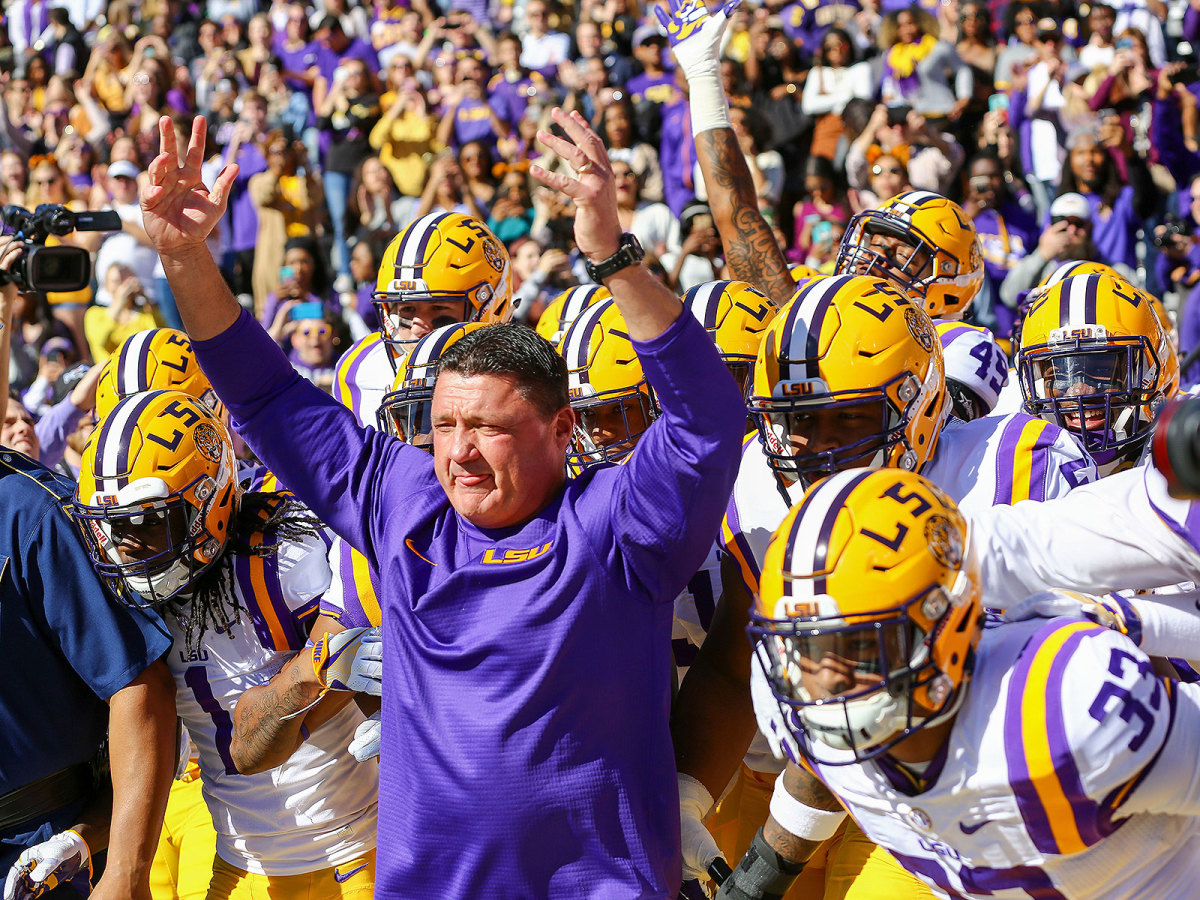 After Orgeron took over as LSU's interim (and later permanent) coach in September 2016, the Tigers closed the season 6–2.