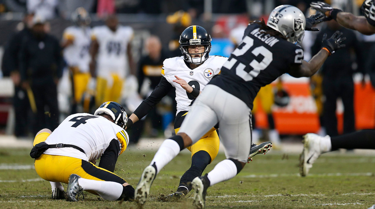 A slip on the dodgy Oakland turf cost the Steelers a chance to take the Raiders into overtime in Week 14.