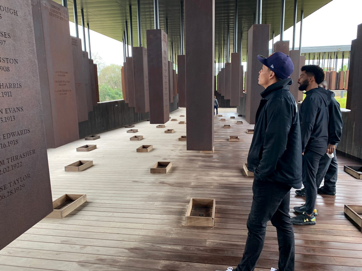 Stills visits the National Memorial for Peace and Justice in Montgomery, Ala.
