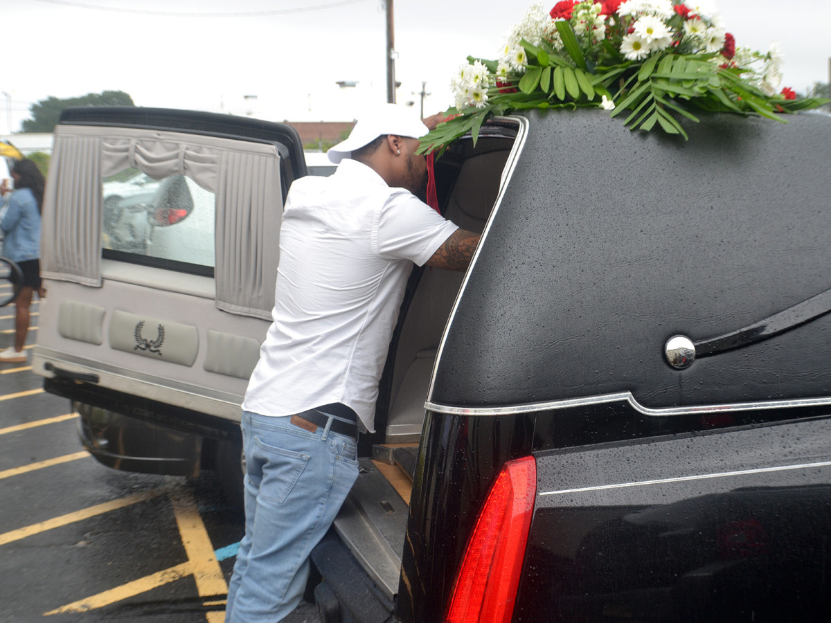 Bryce Bradforth took the loss of his brother as hard as anyone, lingering with his casket at the funeral.