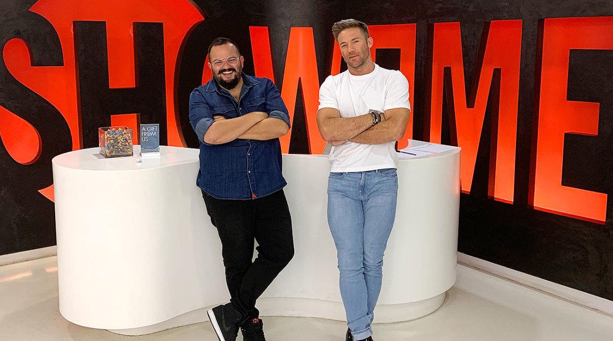 Julian Edelman (right) and Assaf Swissa of Coast Productions.