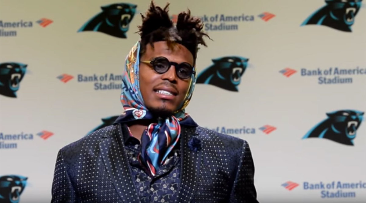 Cam Newton postgame outfit generates hilarious Twitter reaction ...