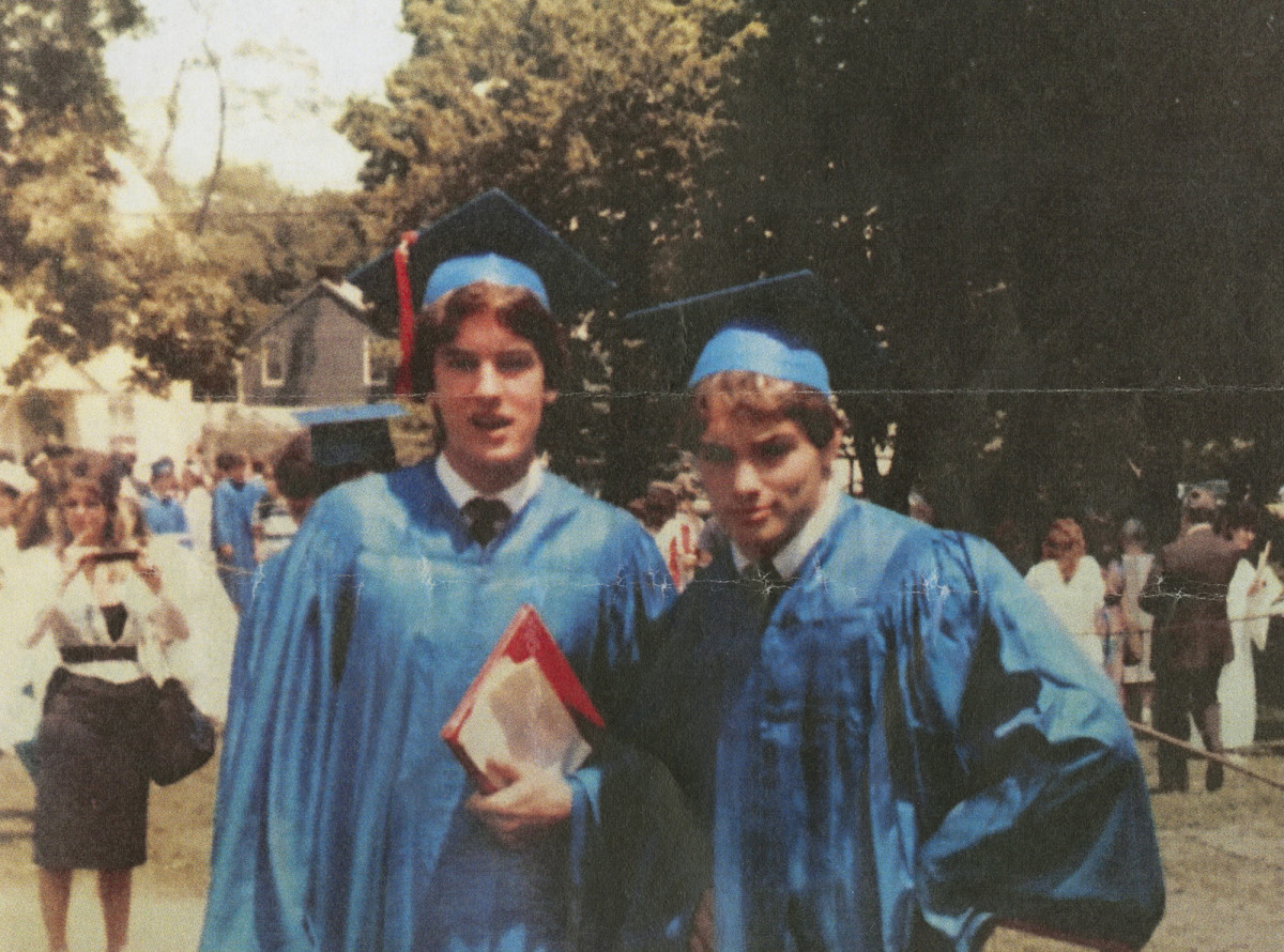 Naposki (right) graduated Eastchester High School in 1984.