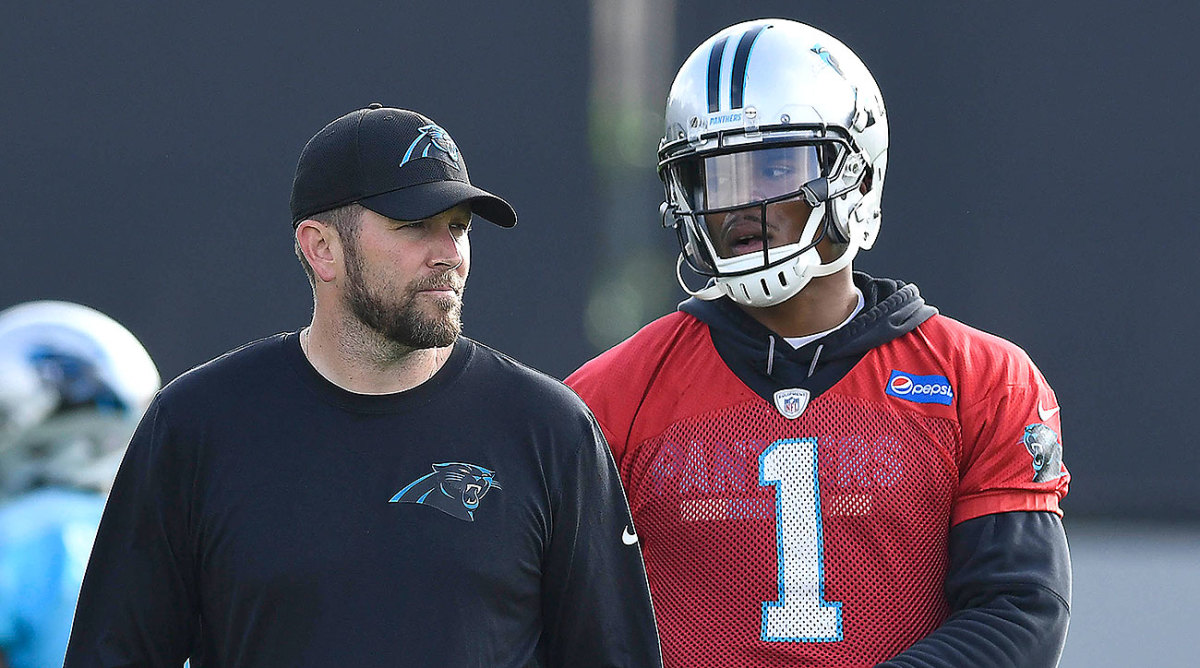 Cam Newton and Scott Turner started working together after Turner was hired by the Panthers in 2018.