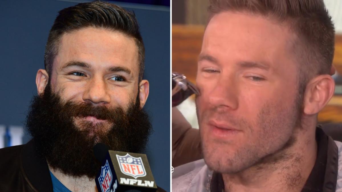 Patriots Julian Edelman Shaves Beard On Ellen Show Video