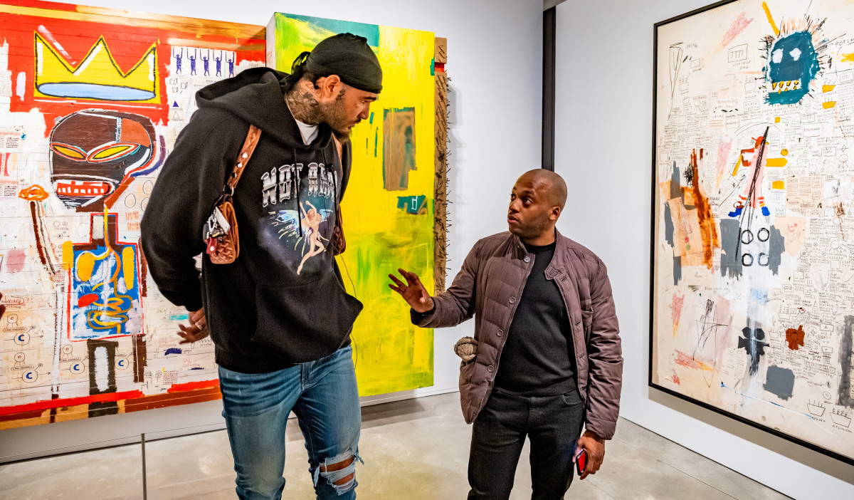 Gardy St. Fleur (right), a New York-based art adviser and collector, has helped several NBA players navigate and understand the art world.