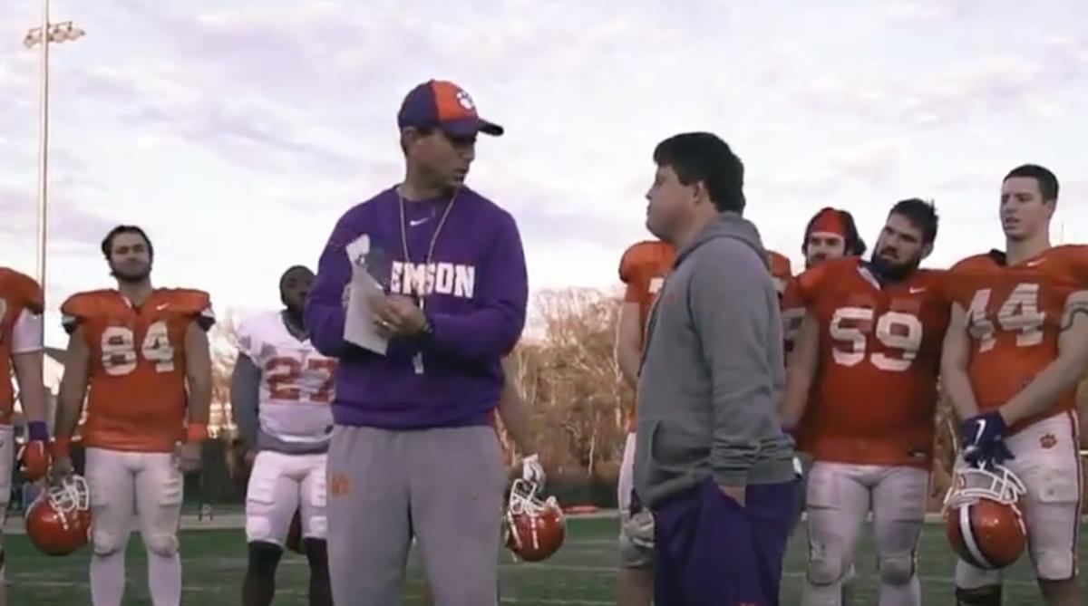 Dabo Swinney gives Clemson equipment manager Super Bowl ...