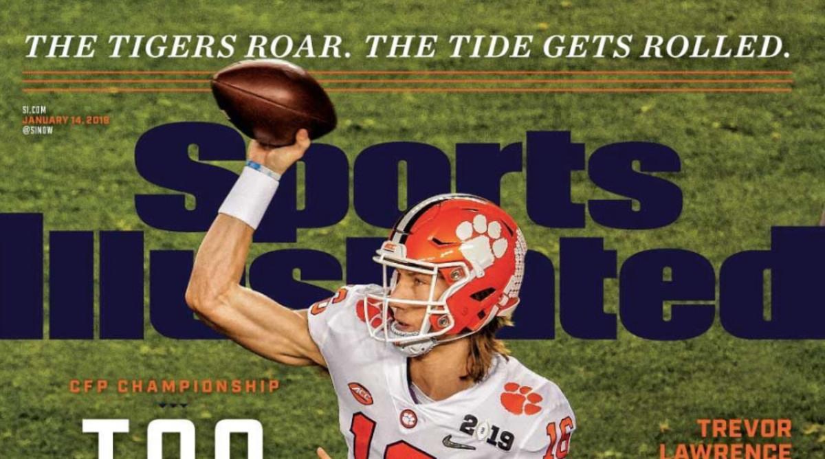 2019 Magazine Clemson Tigers Trevor Lawrence Sports Illustrated January 14