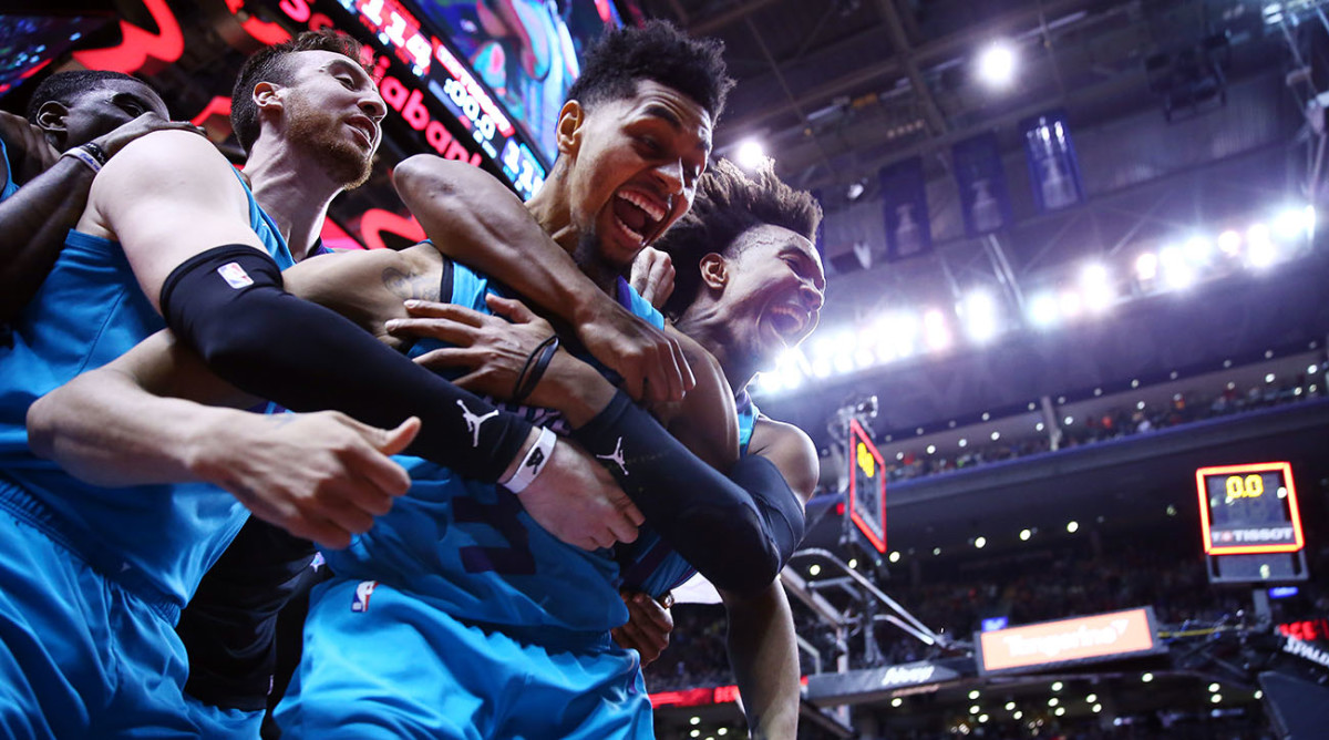 Jeremy Lamb Hornets G Hits Half Court Buzzer Beater Vs Raptors Video Sports Illustrated