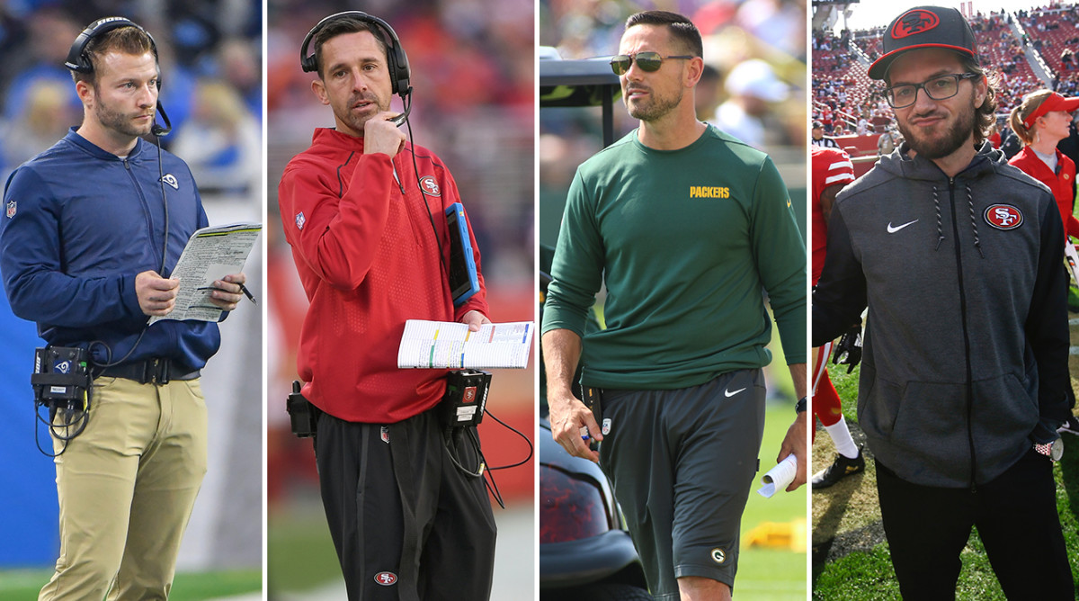 Left to right: McVay and Kyle Shanahan have established themselves as head coaches in the NFC West, while Matt LaFleur is the new guy in Green Bay and McDaniel serves as one of Shanahan's co-offensive coordinators.