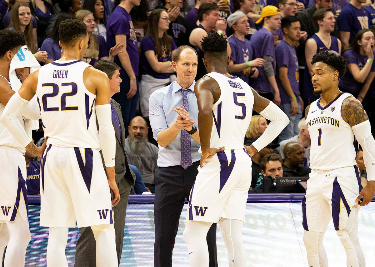 Mike Hopkins has a lot of production to replace if the Huskies are to defend their Pac-12 regular-season title.
