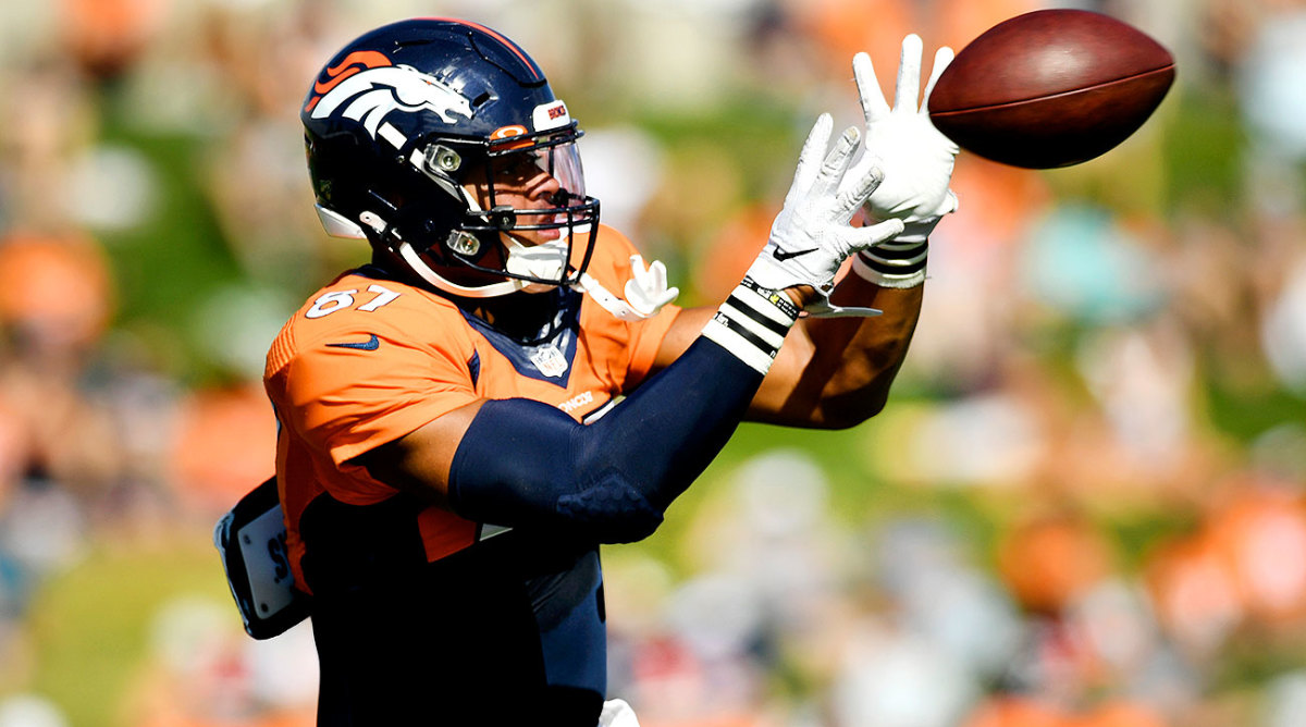 Expect to see a lot of Broncos rookie Noah Fant this season.