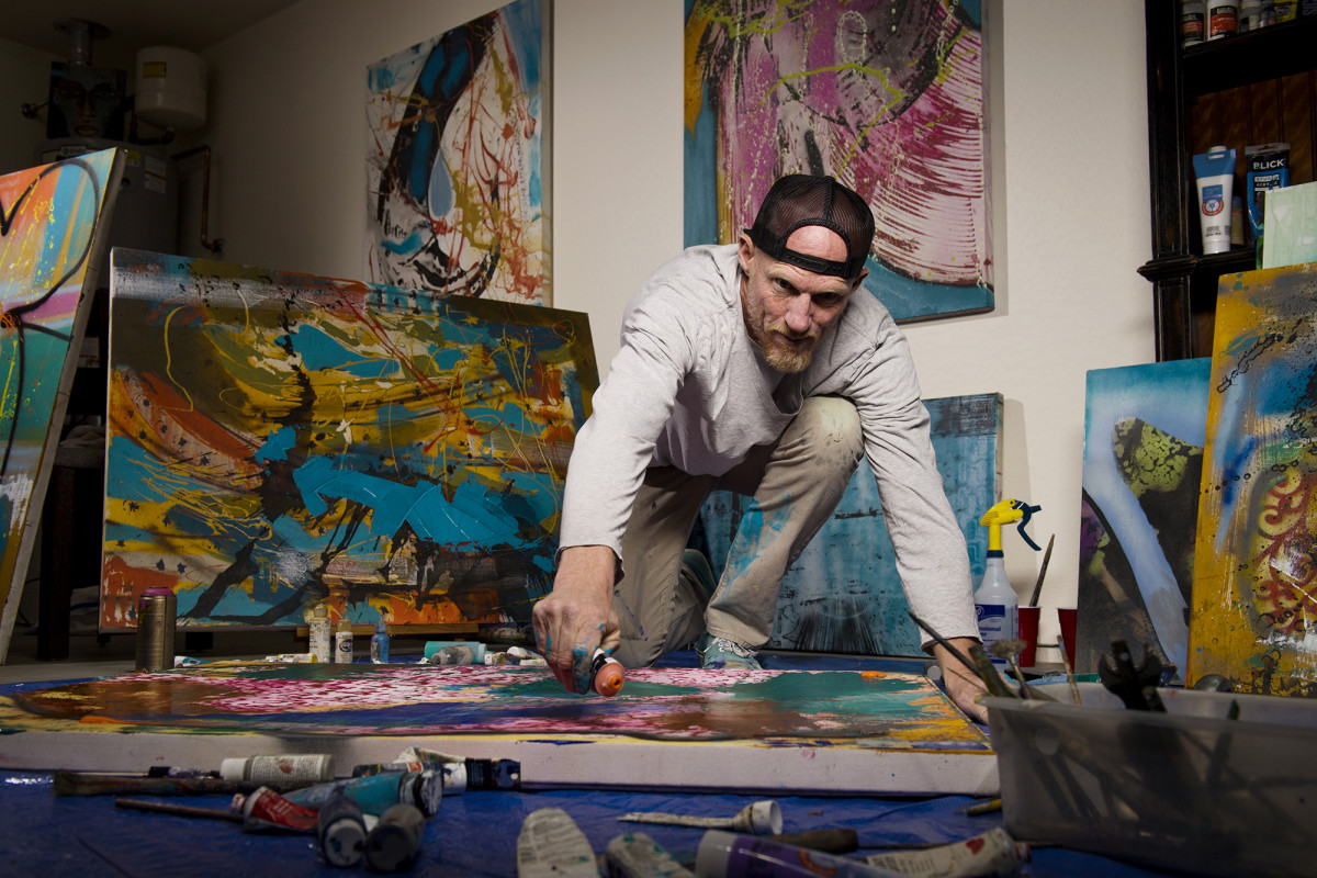 Todd has turned to his real passion, creating art, as a way to make a living.