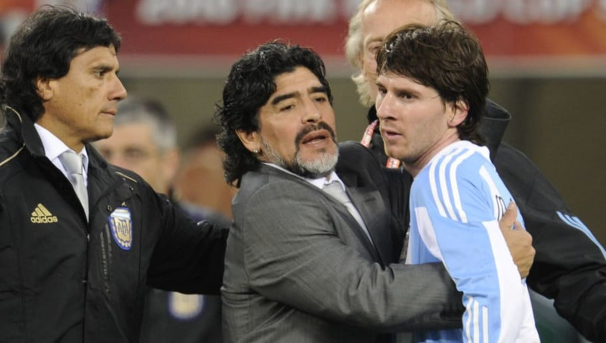 Diego Maradona Reveals the Shooting Advice He Gave to Lionel Messi at 2010 World Cup - Sports Illustrated