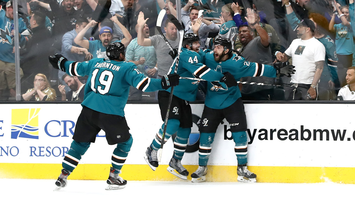 Playoff Roundup: Sharks Complete Epic Game 7 Comeback to Eliminate Golden Knights in Overtime