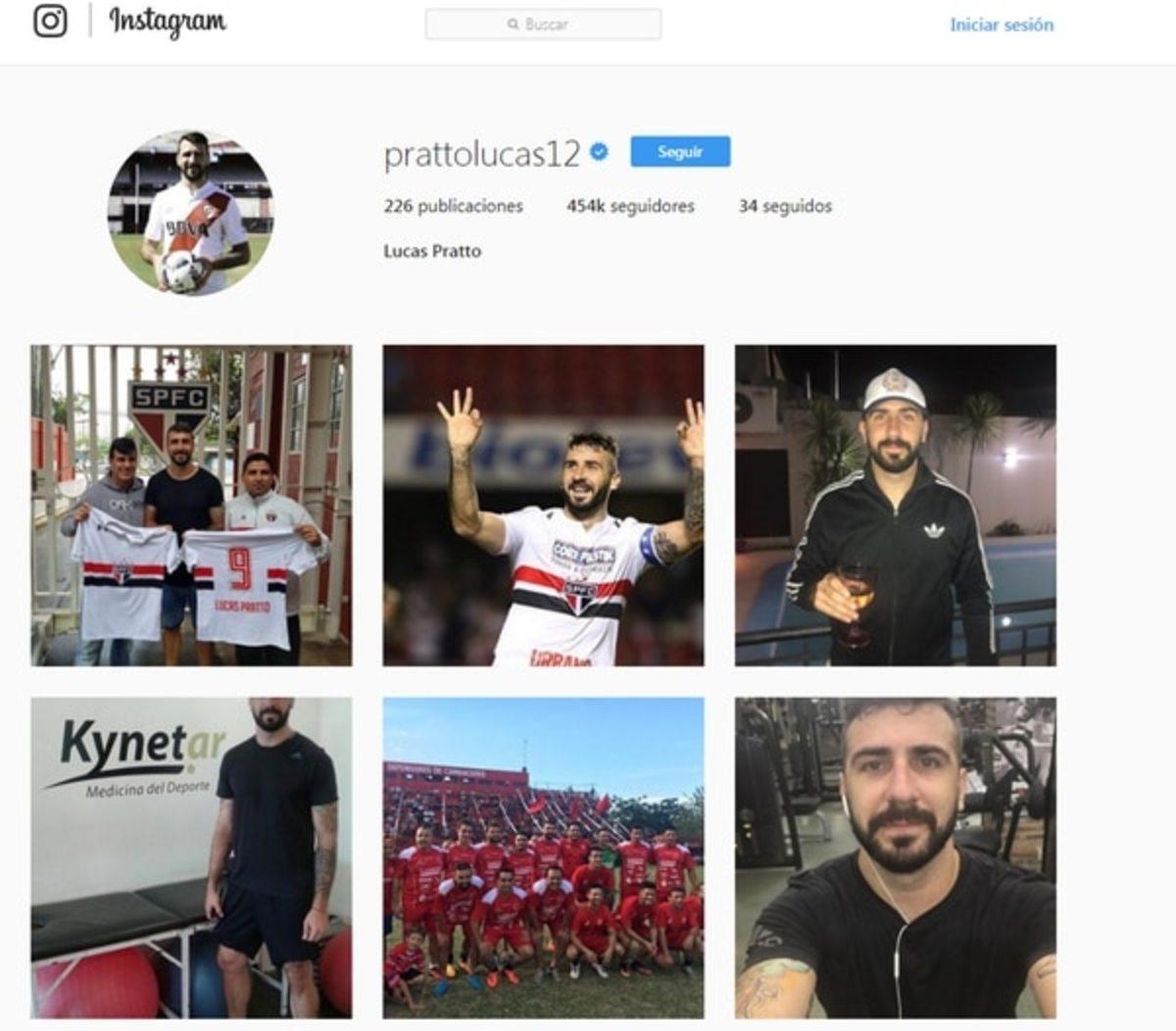 El usuario de Pratto en Instagram todavía permanece con el 12