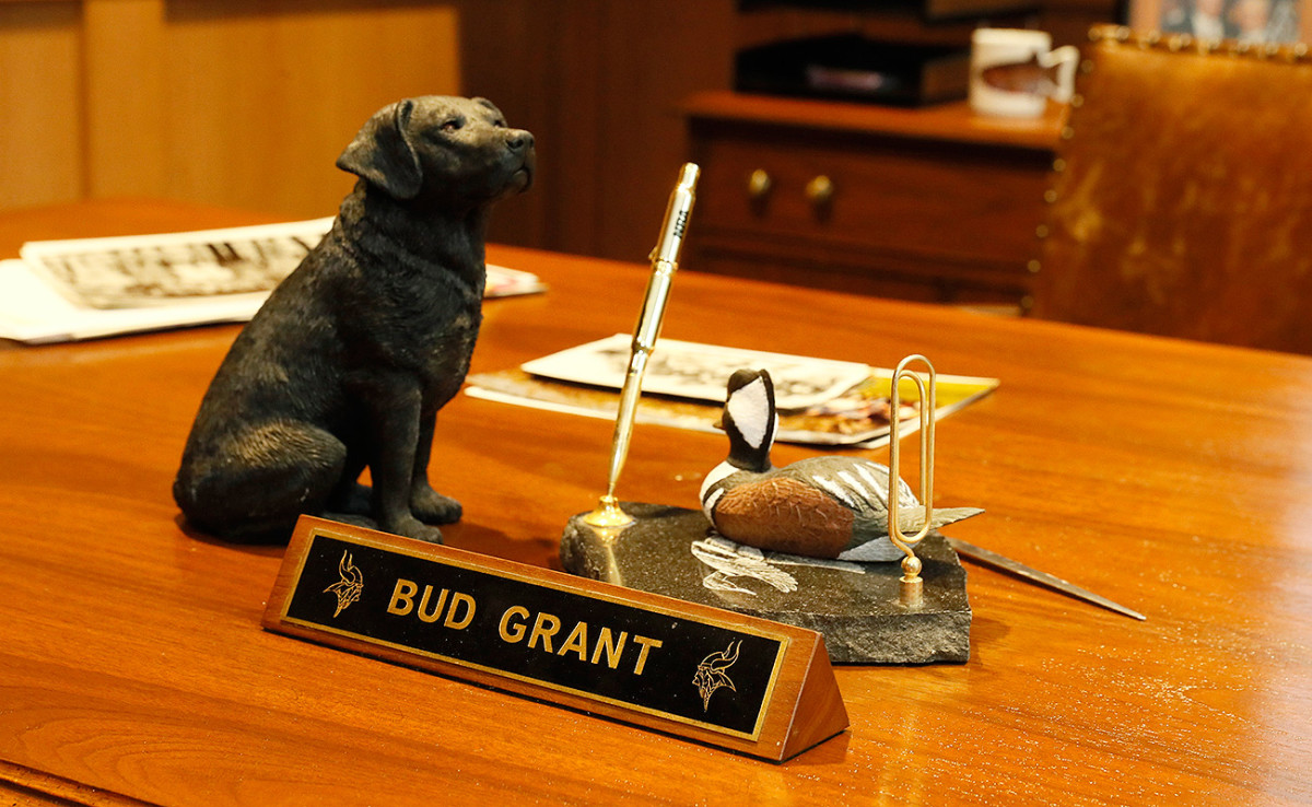 The Vikings gave Bud Grant an office at the new facilities.
