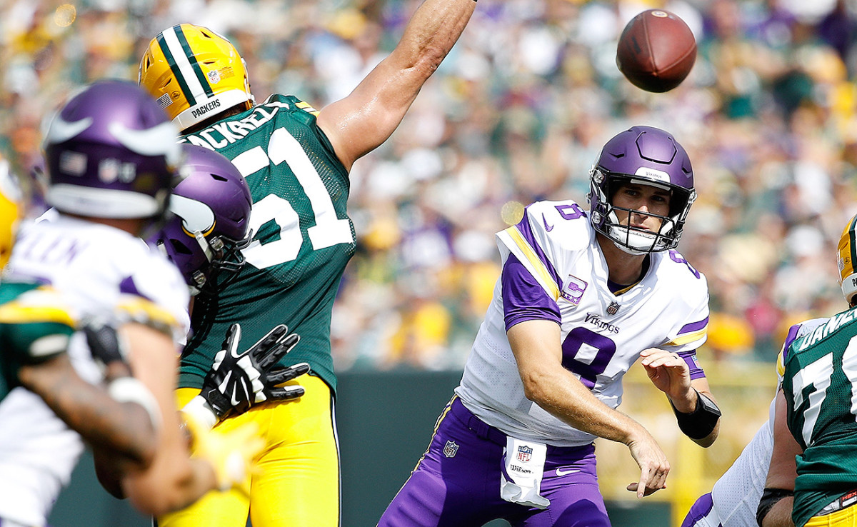 In Week 2, Kirk Cousins threw for 425 yards and four touchdowns in a tie with the Packers.