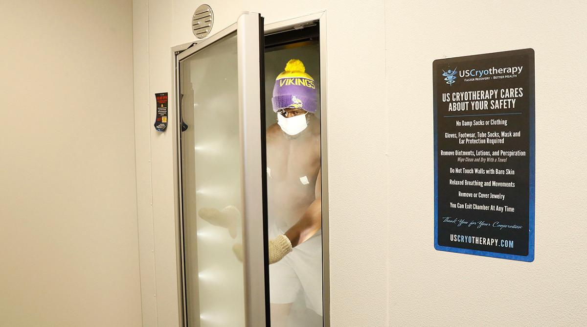Many players use the cryotherapy chamber at the Vikings' new facility.