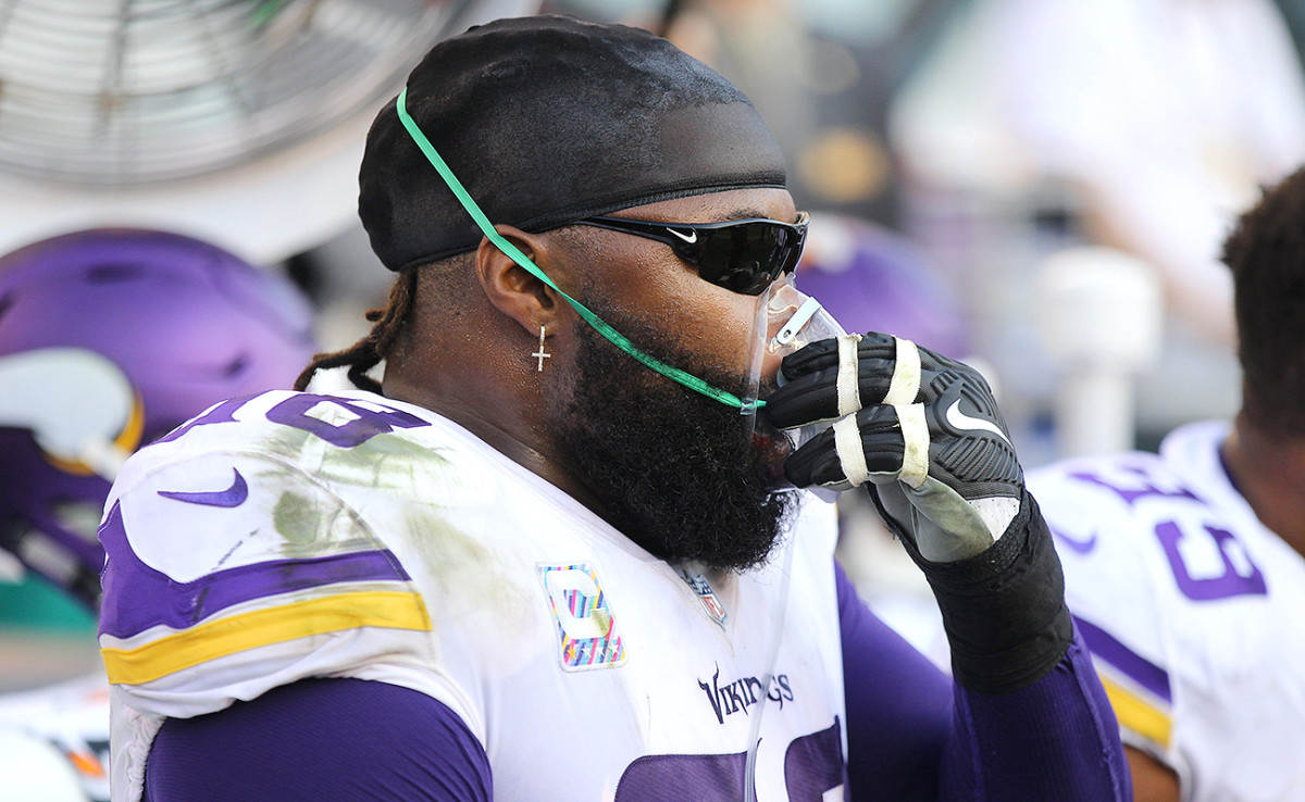 Linval Joseph ran 64 yards on a scoop-and-score touchdown.